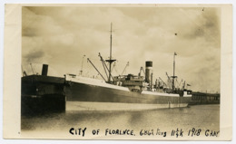 ELLERMAN LINE : S.S CITY OF FLORENCE (PHOTO - POSTCARD SIZE) - Cargos