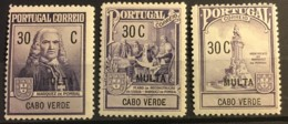 CAPE VERDE - MH*  - 1925 - # RAJ1/3 - Cape Verde