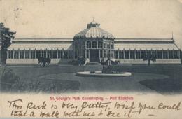 1906 SUDAFRICA , TARJETA POSTAL CIRCULADA , ST. GEORGE'S PARK CONSERVATORY - PORT ELIZABETH - Sudáfrica