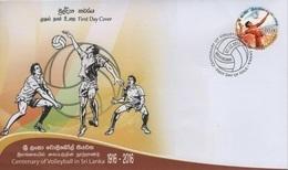 Sri Lanka (2016) - FDC -  /  Volleyball - Sports - Voleibol