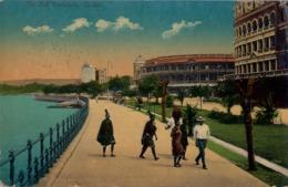 1910 SUDAFRICA , TARJETA POSTAL CIRCULADA , DURBAN - THE BAY ESPLANADE - Sudáfrica