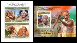 GUINEA 2019 - Mahatma Gandhi. M/S + S/S. Official Issue [GU190305] - Guinea (1958-...)