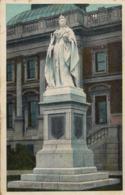1907 SUDAFRICA , TARJETA POSTAL CIRCULADA , QUEEN VICTORIA STATUE - CAPE TOWN - Sudáfrica