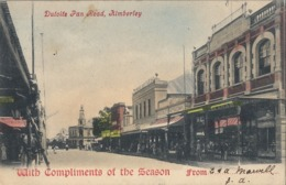 1904 SUDAFRICA , TARJETA POSTAL CIRCULADA , DUTOITS PAN ROAD - KIMBERLEY - Sudáfrica