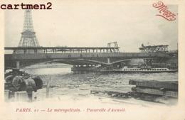 PARIS LE METROPOLITAIN PASSERELLE D'AUTEUIL PUBLICITÉ MAGGI 75016 - Distretto: 16