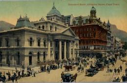 1920 SUDAFRICA , TARJETA POSTAL CIRCULADA , STANDARD BANK , ADDERLEY STREET , CAPE TOWN - Sudáfrica