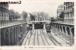 PARIS GARE DE L'AVENUE HENRI-MARTIN TRAIN METRO LOCOMOTIVE BAHNHOF STATION 75016 - District 16