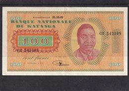 Congo Kongo Katanga  100 Fr 1960  AU - Billets