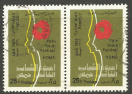 SYRIA. 25P YOUTH FESTIVAL USED PAIR - Syria