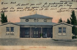 1906 SUDAFRICA , TARJETA POSTAL CIRCULADA , TOWN HALL - HARRISMITH - Sudáfrica