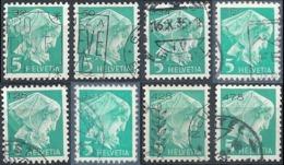 Diakonissin, 5 Rp.blaugrün  (8 Verschiedene)         1935 - Franchise