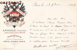 PARIS PUBLICITE GRAND HOTEL DE RUSSIE 2-4 BOULEVARD DES ITALIENS RUE DROUOT A. RIGUELLE - District 02