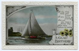 A GLAD BIRTHDAY : YACHT (EMBOSSED) - Birthday