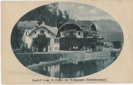 -Autriche:Gasthof Lueg, St.Gilgen Am Wolfgangsee (Salzkammergut)Wagon Sur La Ligne De Chemin De Fer. Carte - Austria