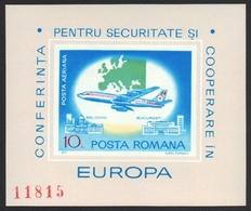 Rumänien 1977 - Mi-Nr. Block 144 ** - MNH - Europa - KSZE - Flugzeug - 1948-.... Republiken