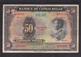 Kongo Congo Belge 50 Fr 1951 Fine - [ 5] Belgisch Kongo