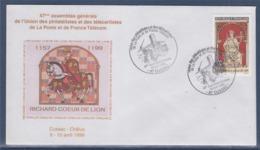 = 47è Assemblée Générale Union Philatélistes Télécartistes La Poste France Télécom Cussac Châlus 10.4.99 N°3238 - Commemorative Postmarks
