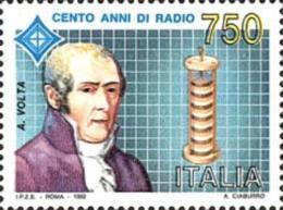 ITALIA REPUBBLICA ITALY REPUBLIC 1992 INVENZIONE DELLA RADIO ALESSANDRO VOLTA MNH - 1946-.. République