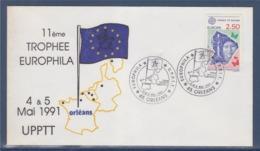 =11è Trophée Europhila UP PTT Orléans 4-5.5.91 Enveloppetimbre 2696 Europa - Marcophilie (Lettres)