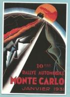 CPM Affiche Sur Carte Du 10 ème Rallye Automobile De Monte Carlo Janvier 1931 Falcucci - Ed Clouet - Rallyes