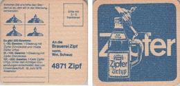 Bierdeckel Quadratisch - Zipfer - Bierdeckel Ankreuzen - Beer Mats