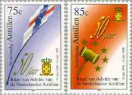 Ned Antillen 1998 Raad Van Advies - Flags NVPH 1219, MNH** Postfris - Curacao, Netherlands Antilles, Aruba