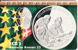 DENMARK(chip) - Declaration Of Accession To The EU/Danmark, ECU Series/Denmark, Tirage 700, 07/97, Mint - Danemark