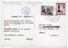DEAR DOCTOR TYPE PUBL. PELARGON ROSSO / NESTLE' - AFRIQUE DU SUD-OUEST (AUTRUCHES) - Salute