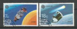Zypern  1991  Mi.Nr. 771 / 772 , EUROPA CEPT - Europäische Weltraumfahrt - Gestempelt / Fine Used / (o) - Cyprus (Republiek)