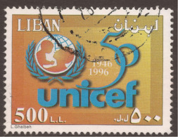 LEBANON INFLATION STAMP 500L£ UNICEF - Lebanon