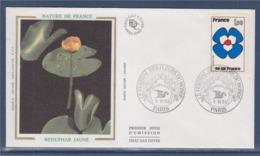 = Festival Des Fleurs Du Monde Nénuphar Jaune Téléfleurs Paris 5.VII.93 Timbre 1991 Ile De France Complément 2620 2618 - Marcophilie (Lettres)