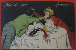 """SAGER Xavier ILLUSTRATEUR """" PLAT DU JOUR MARRONS - Humour, Couple - Sans Nom D'éditeur N° 17 - Sager, Xavier"""