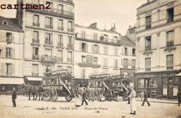 PARIS LA PLACE DE PASSY ANIMEE OMNIBUS FIACRE DILIGENCE 75016 - District 16