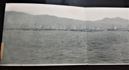 Carte Ancienne Panoramique En 4 Parties - SALONIQUE - Grèce / Greece - Vers 1918 ? - Le Port - Bateau - Grecia