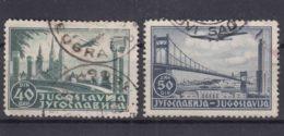 Yugoslavia Kingdom, Airmail 1940 Mi#426-427 Used - Gebraucht