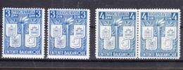 Yugoslavia Kingdom 1940 Mi#422-425 Mint Never Hinged, Two Single Stamps And One Pair - 1931-1941 Reino De Yugoslavia