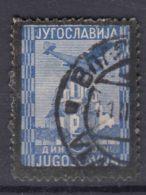 Yugoslavia Kingdom, King Alexander's Assasination - Black Borders 1935 Airmail Mi#299 Used - 1931-1941 Königreich Jugoslawien