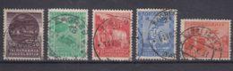 Yugoslavia Kingdom 1934 First Airmail Stamps Mi#278-282 Used - 1931-1941 Königreich Jugoslawien