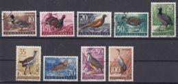 Yugoslavia Republic 1958 Birds Mi#842-850 Used - 1945-1992 Socialistische Federale Republiek Joegoslavië