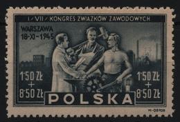 Polen 1945 - Mi-Nr. 413 ** - MNH - Gewerkschaftskongreß - 1944-.... Republik