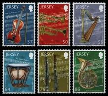 Jersey 2011 - Mi-Nr. 1608-1613 ** - MNH - Musikinstrumente - Jersey