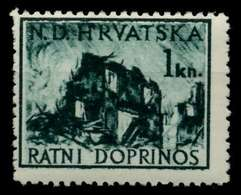 KROATIEN ZWANGSZL Nr 3 Postfrisch X92566E - Croacia