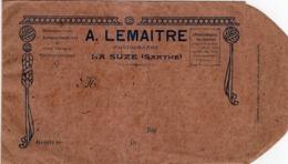 ENVELOPPE  A.LEMAITRE PHOTOGRAPHE LA SUZE (SARTHE) - Colecciones