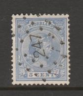 Puntstempel Nr. 247 Op Nr.35  WiIhelmina  CW. 15,- - 1852-1890 (Wilhelm III.)