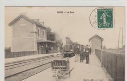 CPA   58   FOURS   LA GARE - France