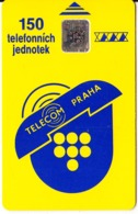 CZECHOSLOVAKIA - Telecom Praha Telecard 150 Units, Chip SC5, CN : 35440, Tirage %60000, 12/91, Used - Tsjechoslowakije