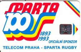 CZECHOSLOVAKIA(chip) - Sparta Praha Rugby, No CN, Chip SC5, 11/92, Used - Tsjechoslowakije
