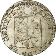 Monnaie, SWISS CANTONS, GENEVA, Sol, 1833, SUP+, Billon, KM:120 - Suisse