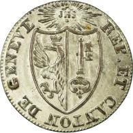 Monnaie, SWISS CANTONS, GENEVA, 1-1/2 Sol, 1825, SUP, Billon, KM:121 - Suisse