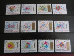 Série De Timbres Oblitérés Adhésifs (Timbres à Gratter 2017) - Adhesive Stamps
